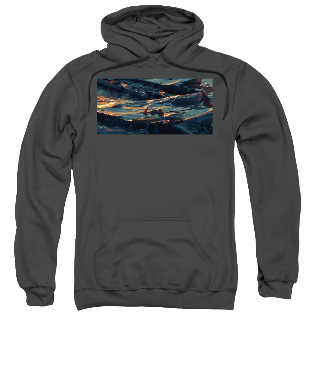Abstract Sweatshirt featuring the photograph Ice In The Light 2 by Lyle Crump