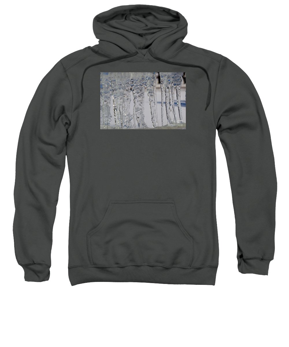 Icicles Sweatshirt featuring the photograph Ice Jail by William Tasker