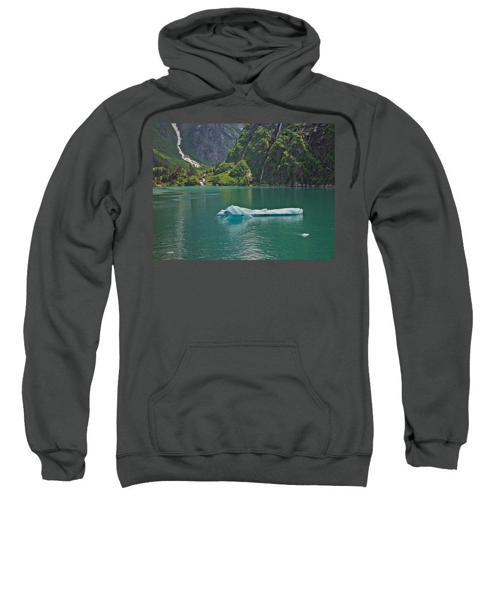 Iceburg Sweatshirt featuring the photograph Ice Tracy Arm Alaska by Heather Coen