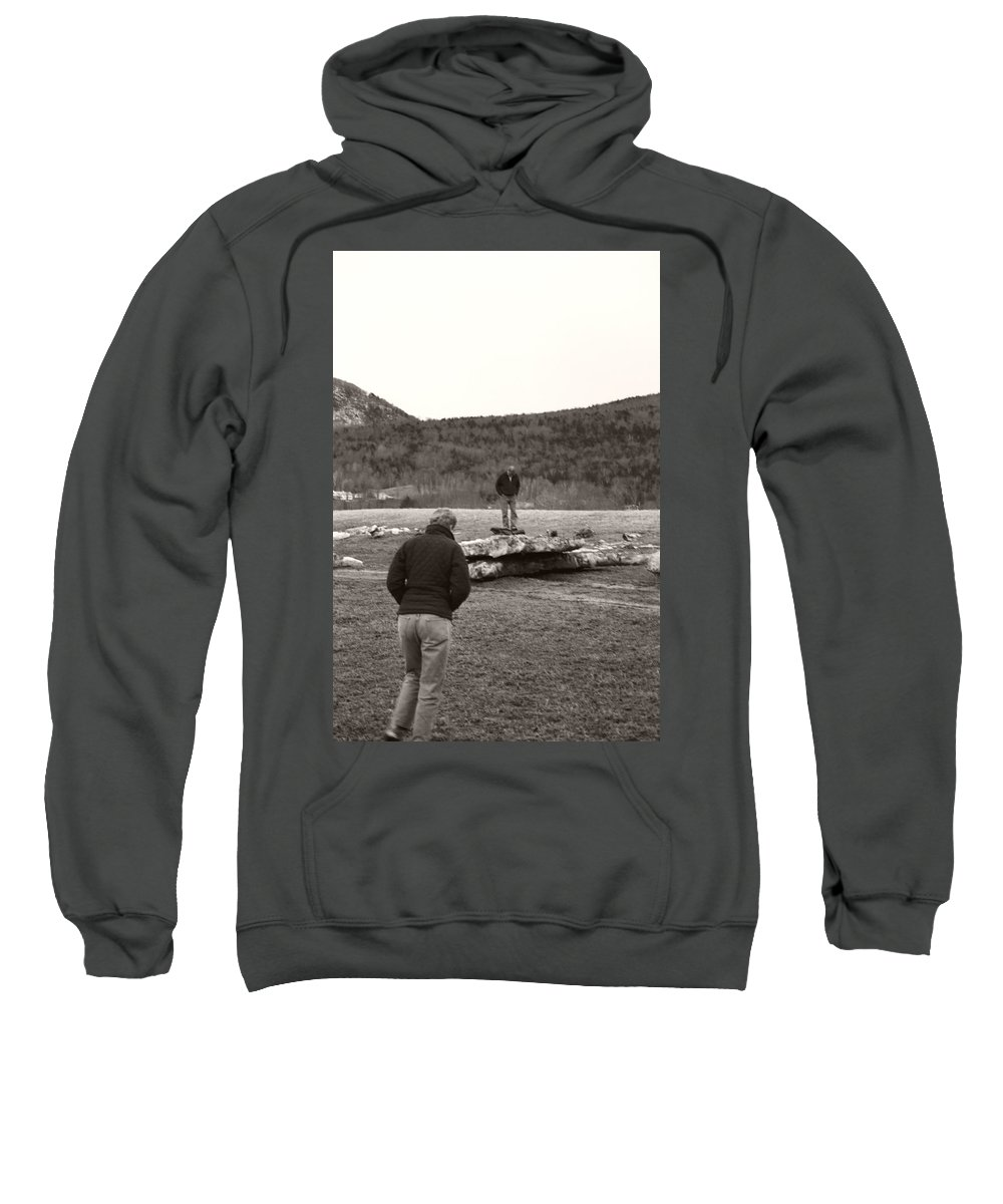 Sweatshirt featuring the photograph Iceberg Separation by Heather Kirk