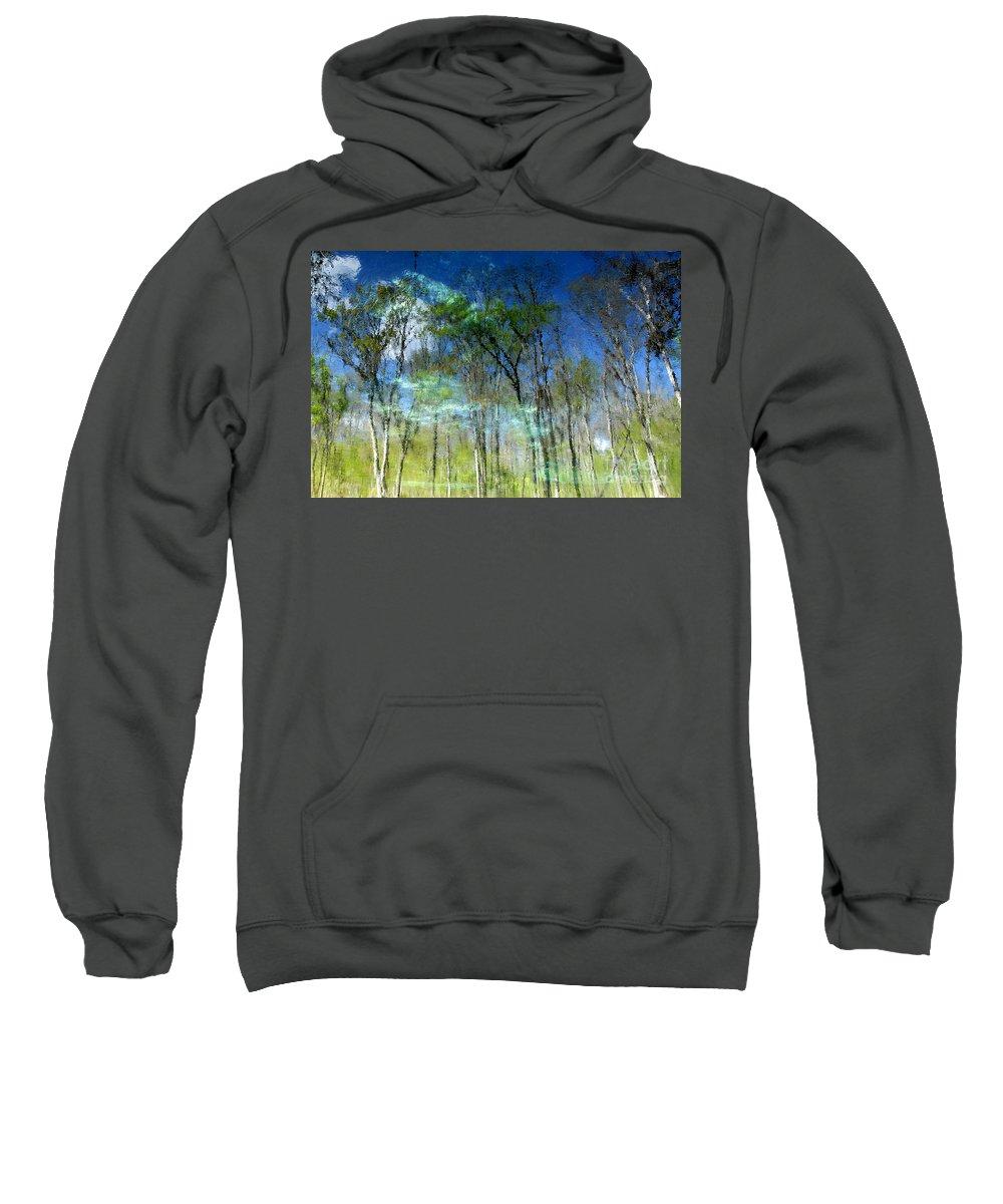 River Sweatshirt featuring the photograph Ichetucknee Reflections by David Lee Thompson
