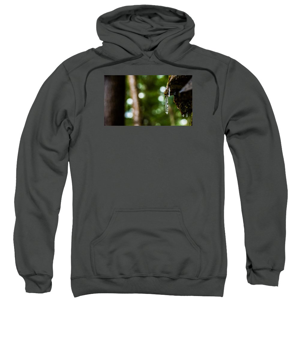 Icicle Sweatshirt featuring the photograph Icicles 2 by Dan Ketelsen