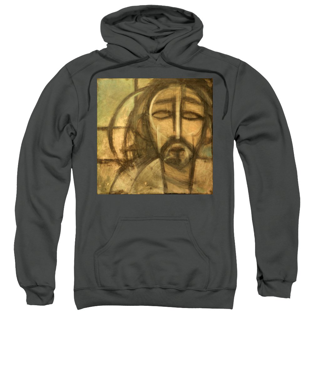Christ Sweatshirt featuring the painting Icon Number 6 by Tim Nyberg