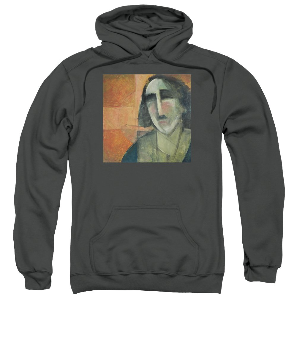 Christ Sweatshirt featuring the painting Icon Number Five by Tim Nyberg