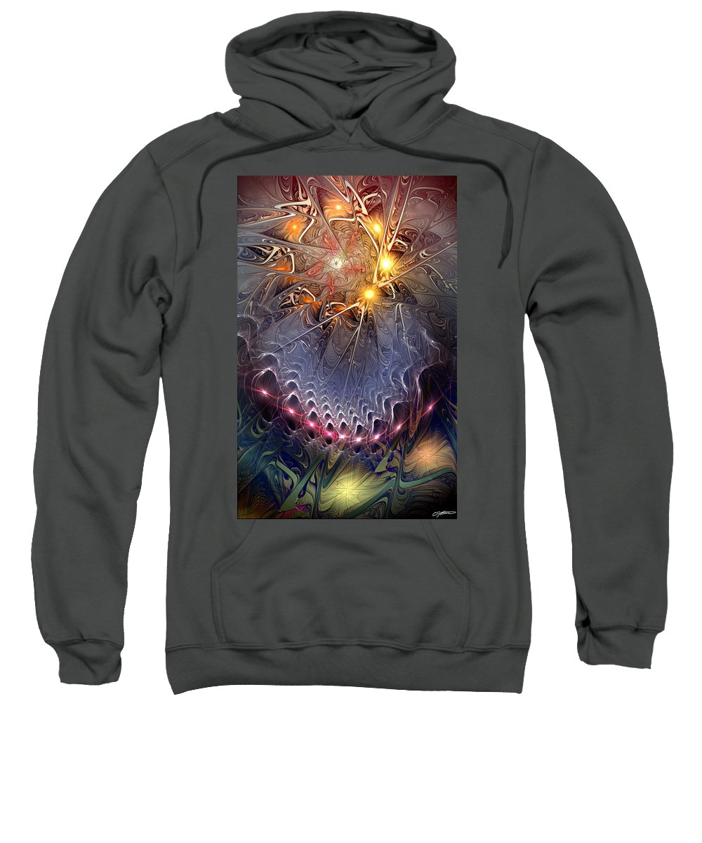 Abstract Sweatshirt featuring the digital art Ideological Subterfuge by Casey Kotas