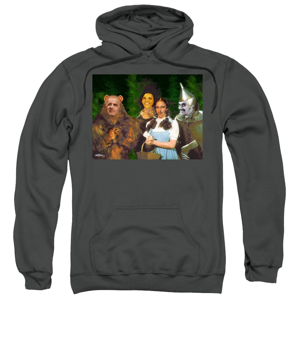 If I Only Had A Brain Sweatshirt featuring the digital art If I Only Had a Brain by Seth Weaver