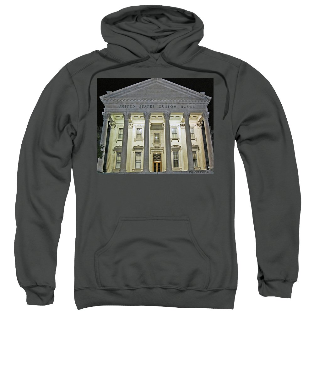 United States Sweatshirt featuring the digital art Illuminated Beneath The Darkness by DigiArt Diaries by Vicky B Fuller