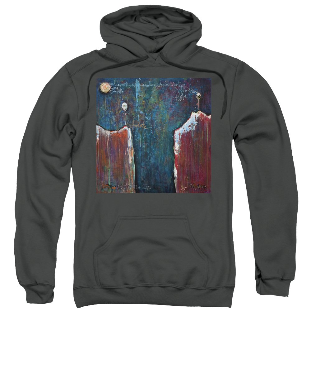 Lollipops Sweatshirt featuring the painting I'm Holding On by Laurie Maves ART