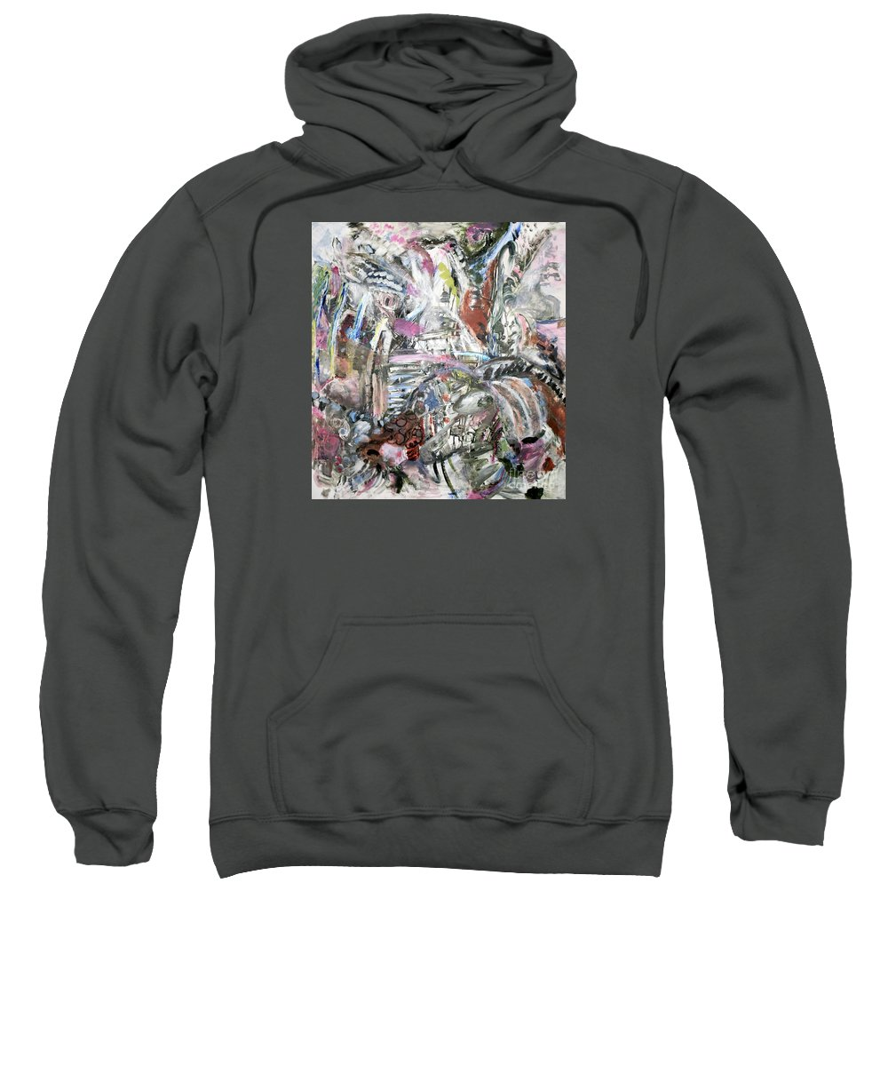 Abstract Sweatshirt featuring the painting Renewal by Jean Moon
