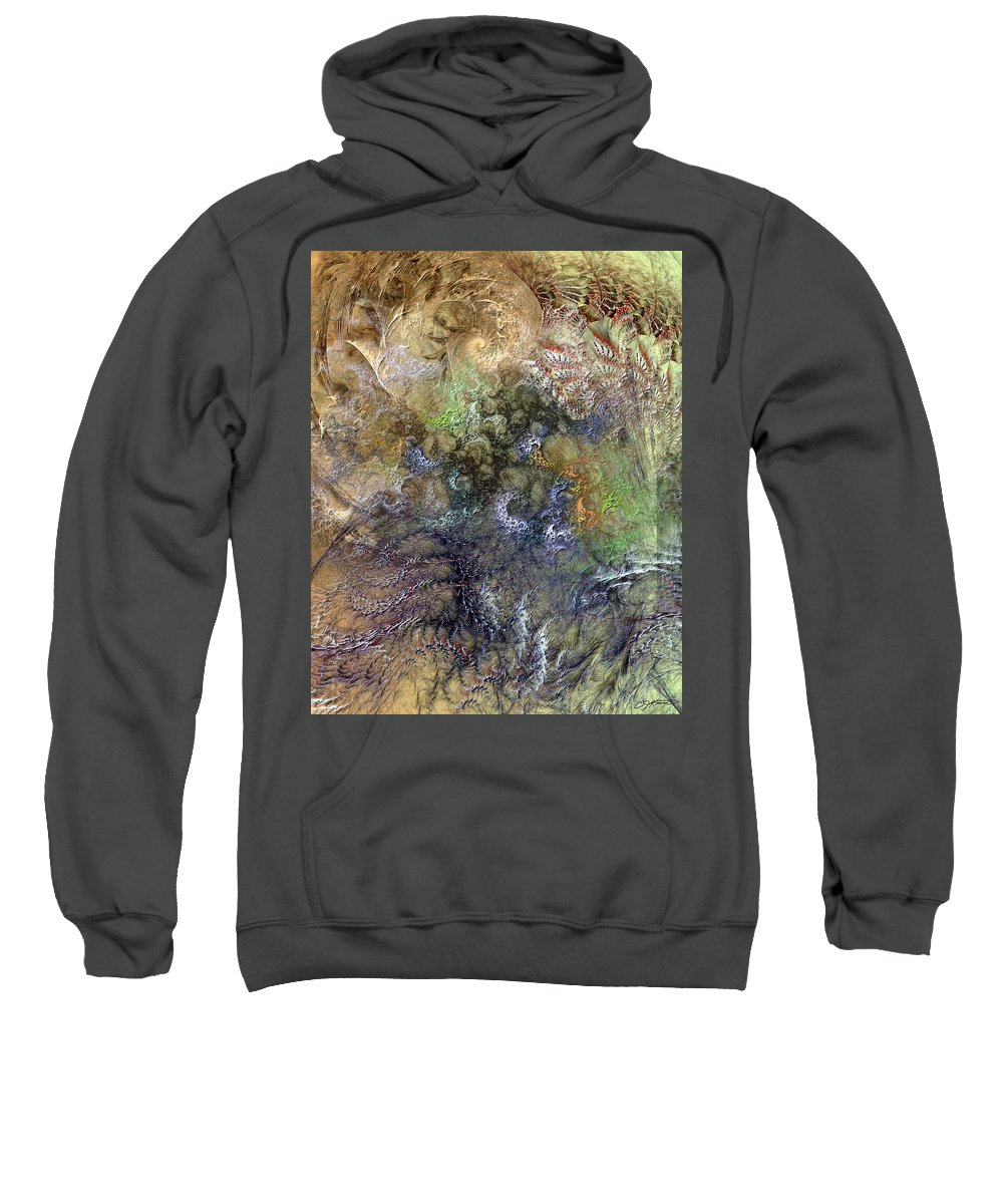 Abstract Sweatshirt featuring the digital art Imperialistic Miasma by Casey Kotas