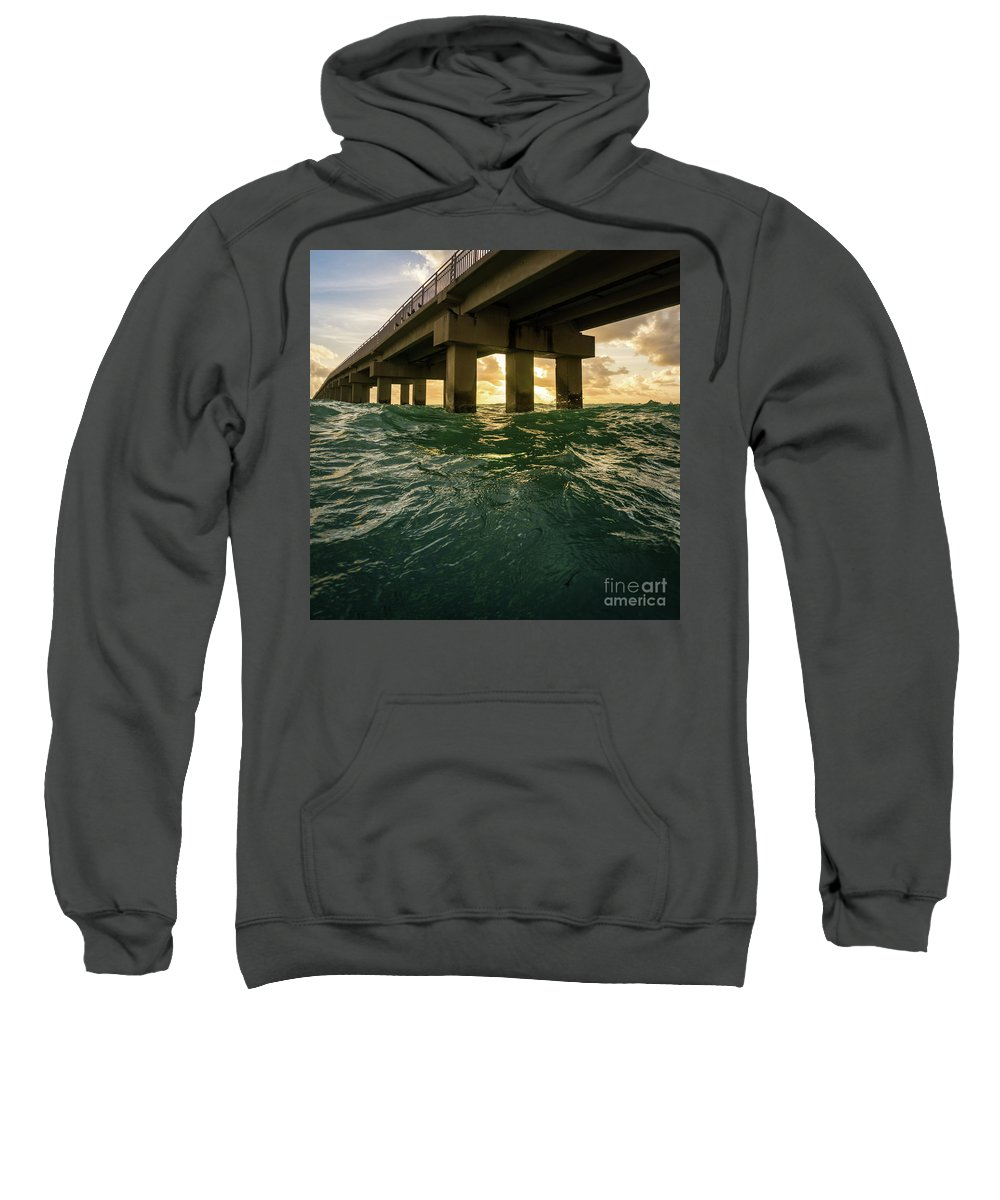 Pier Sweatshirt featuring the photograph Imposing Pier by Minimalist Prints