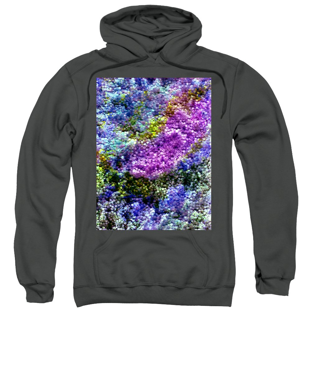 Abstract Sweatshirt featuring the painting Impressions From The Garden by Wayne Potrafka