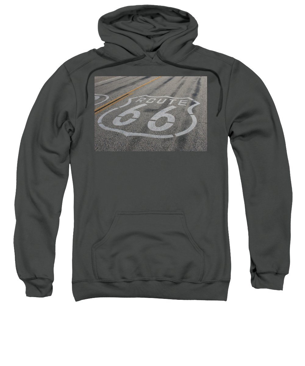 Route Sweatshirt featuring the photograph In A Hurry by Laddie Halupa
