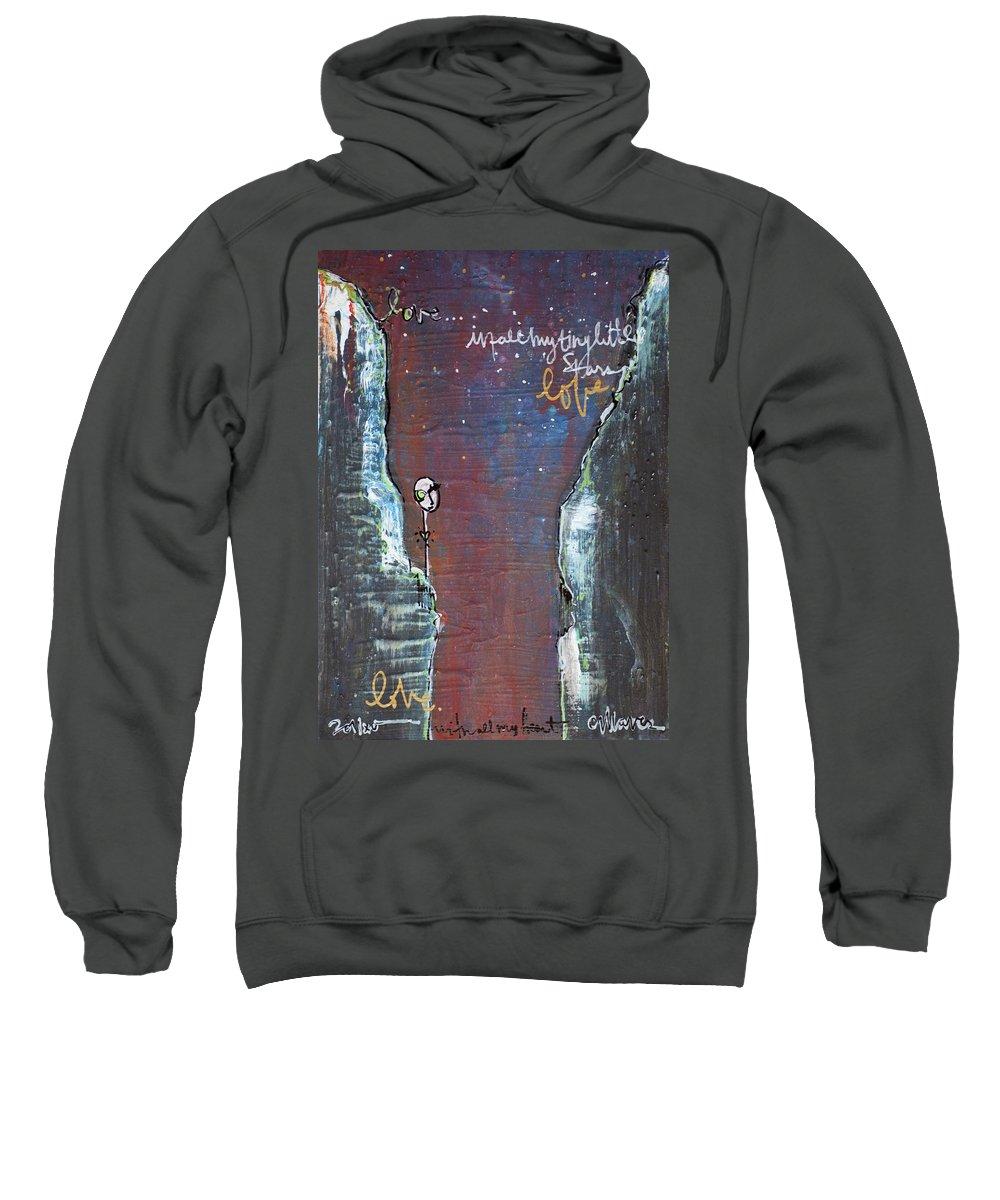 Cliffs Sweatshirt featuring the painting In All My Tiny Little Stars by Laurie Maves ART
