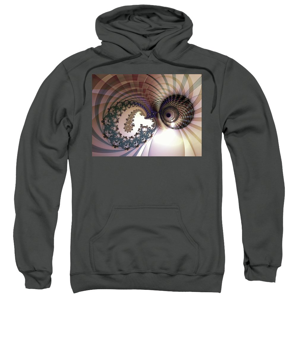 Abstract Sweatshirt featuring the digital art Incompatible Elements by Casey Kotas
