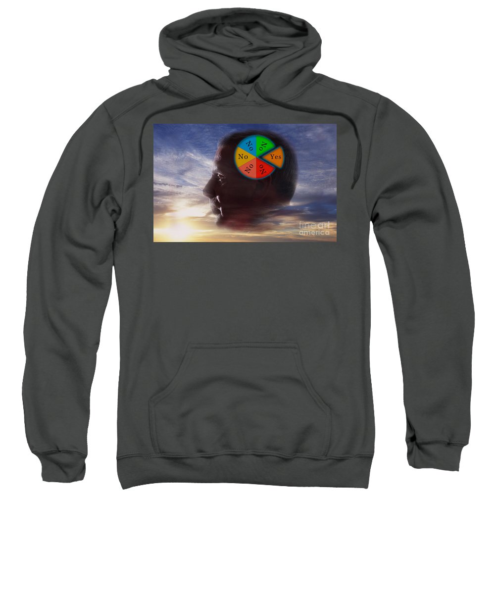 Illustration Sweatshirt featuring the photograph Indecision Yes Or No by George Mattei
