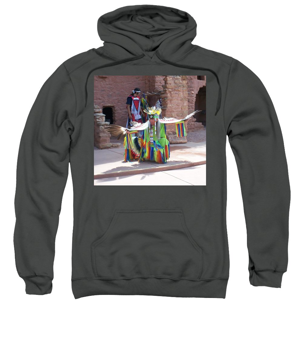 Indian Dancer Sweatshirt featuring the photograph Indian Dancer by Anita Burgermeister