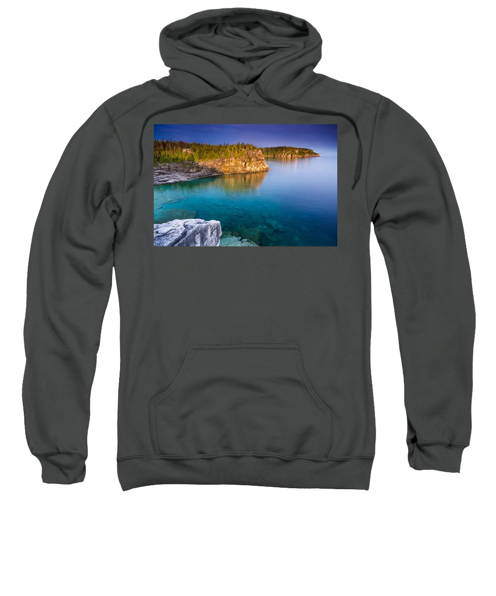 Landscape Sweatshirt featuring the photograph Indian Head Cove Sunrise by Cale Best