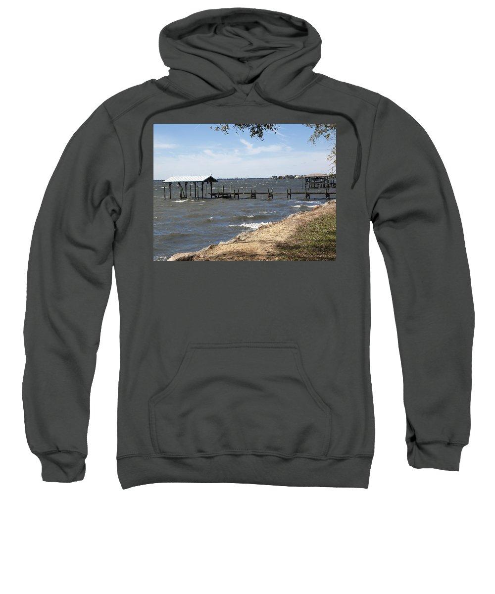 Florida Sweatshirt featuring the photograph Indian River Lagoon At Indialantic Florida by Allan Hughes