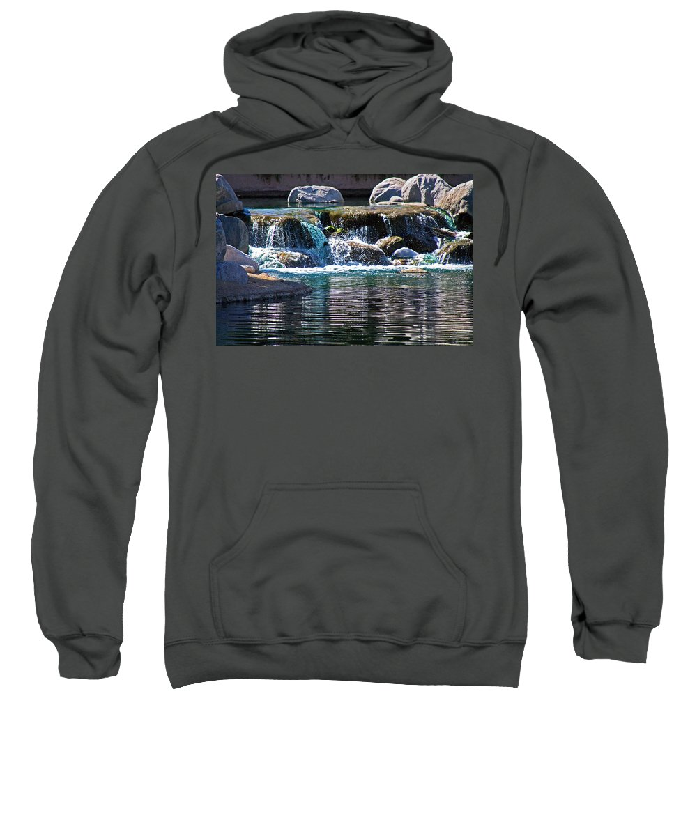 Water Sweatshirt featuring the photograph Indian Wells Waterfall by David Campbell