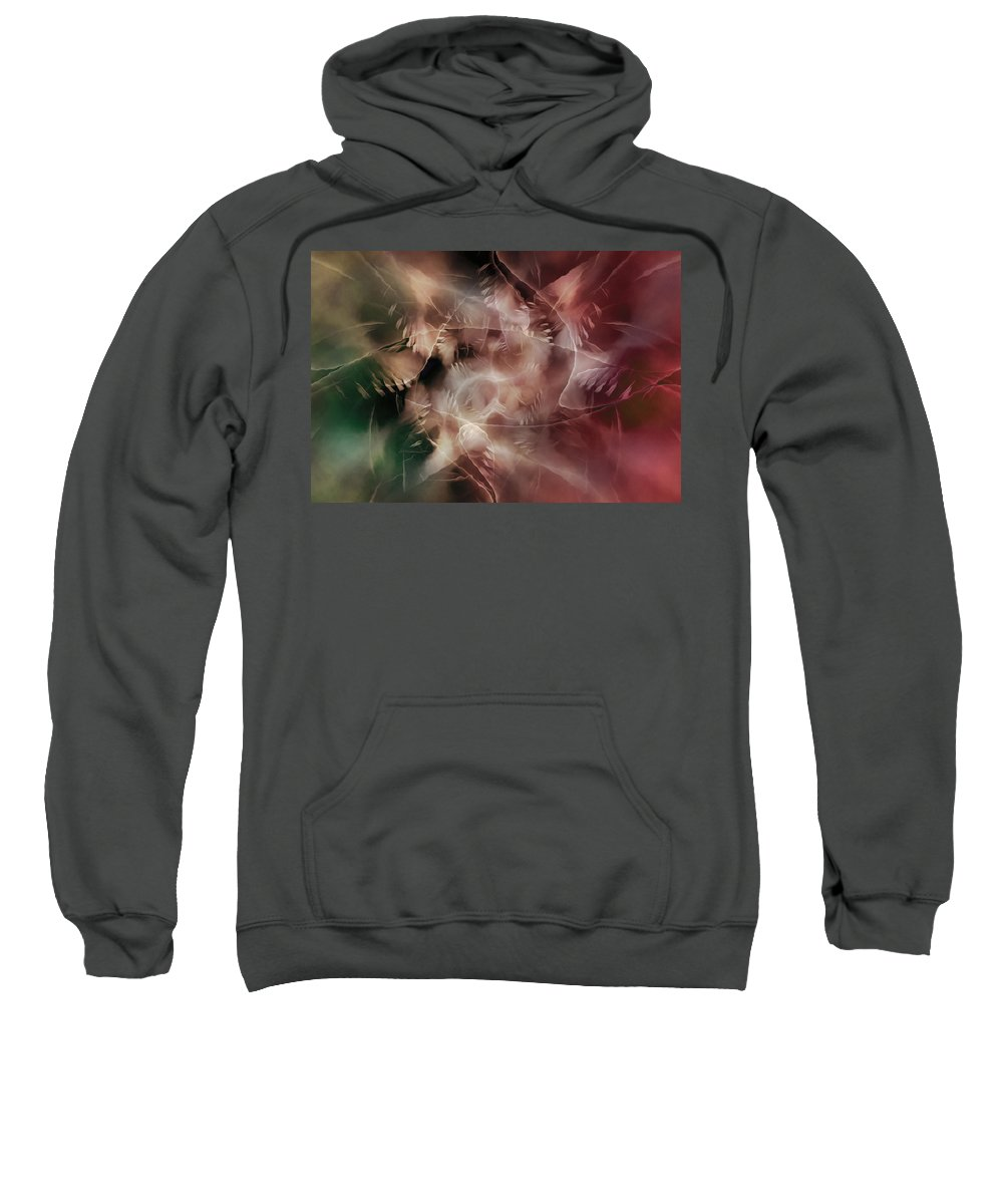 Digital Sweatshirt featuring the digital art Indigenous Spirits by Andy Young