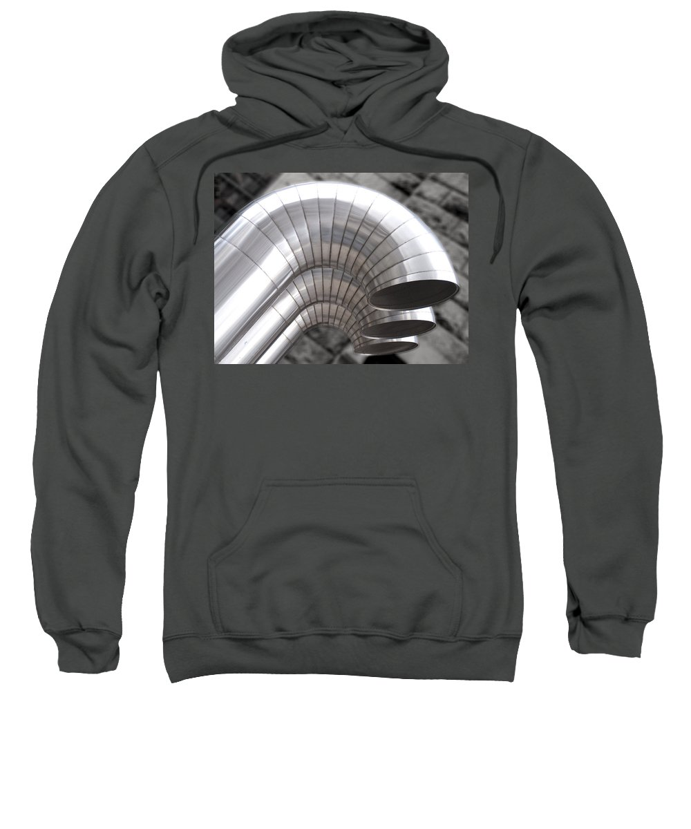 Ducts Sweatshirt featuring the photograph Industrial Air Ducts by Henri Irizarri