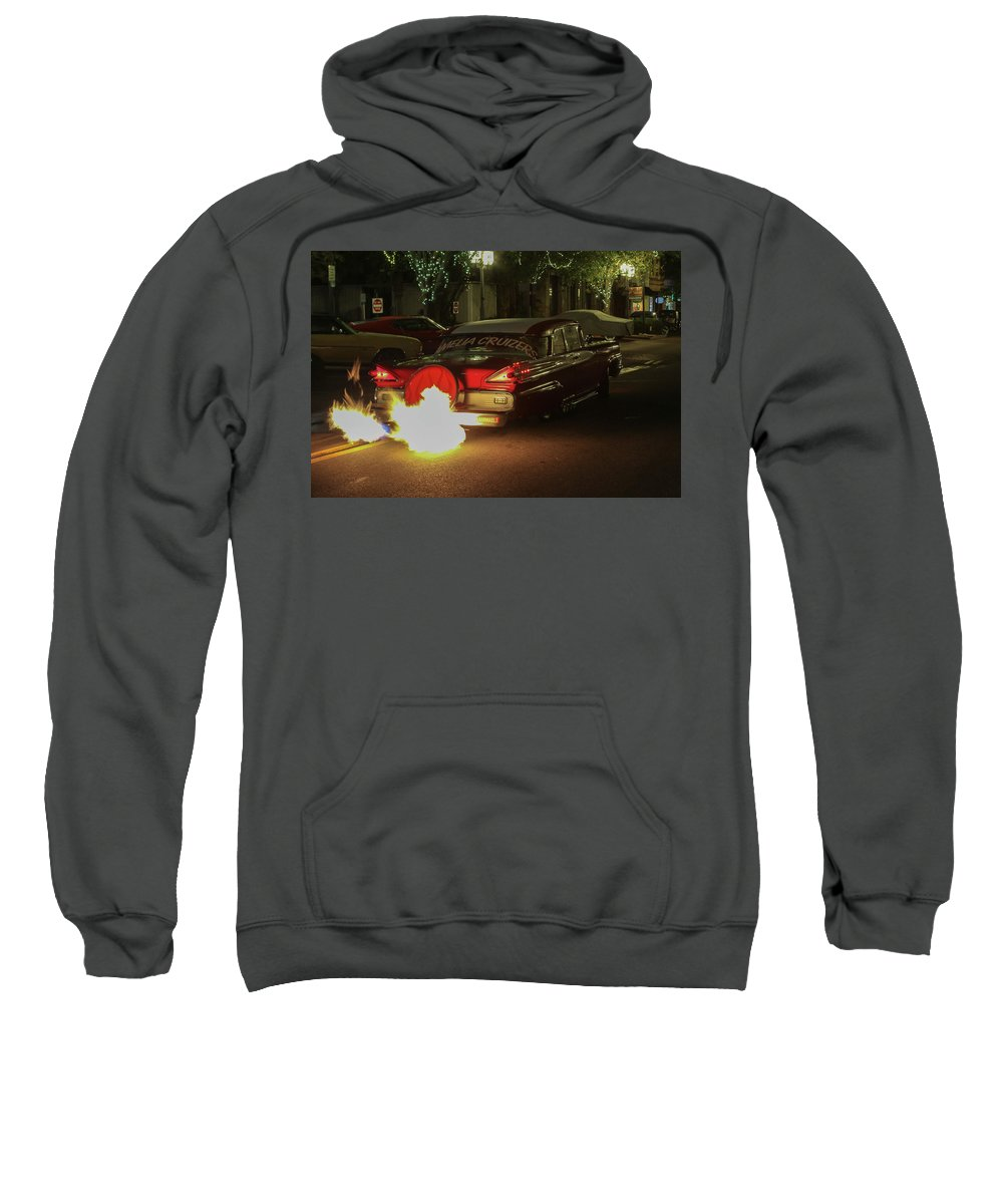 Hot Car Sweatshirt featuring the photograph Inferno by Timothy Cummiskey