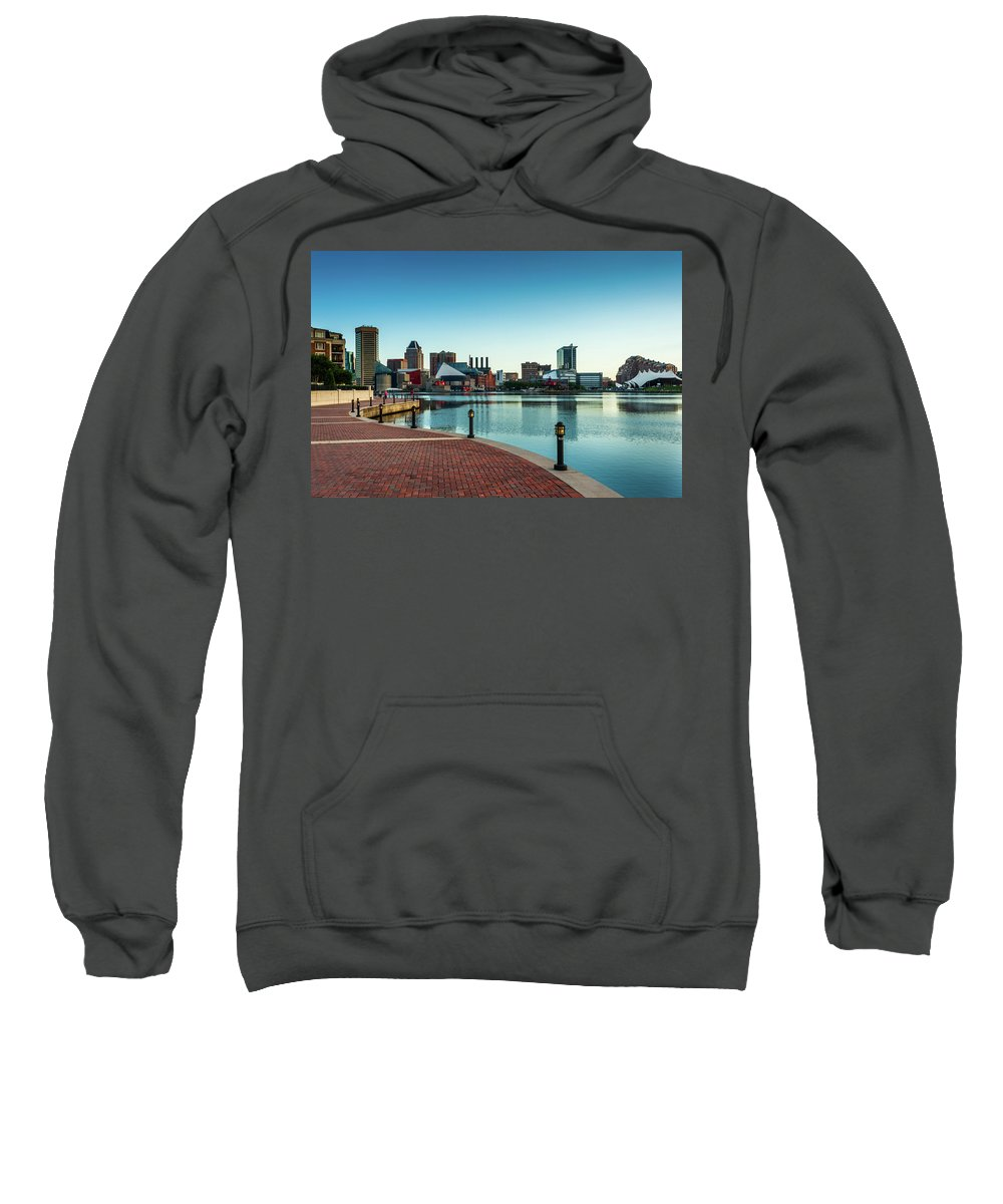 Baltimore Sweatshirt featuring the photograph Inner Harbor Dawn by Jim Archer