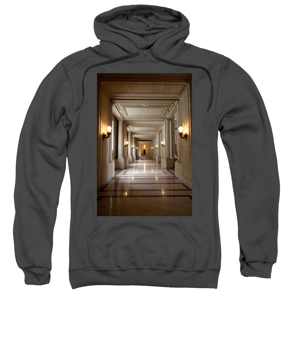 Hall Sweatshirt featuring the photograph Inside Government by Greg Fortier