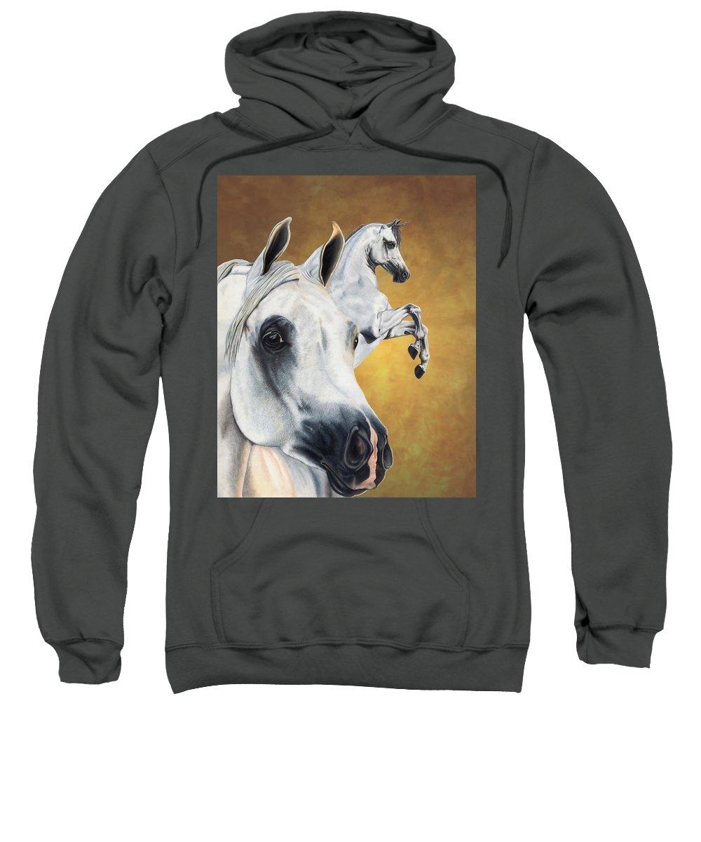 Horse Sweatshirt featuring the drawing Inspiration by Kristen Wesch