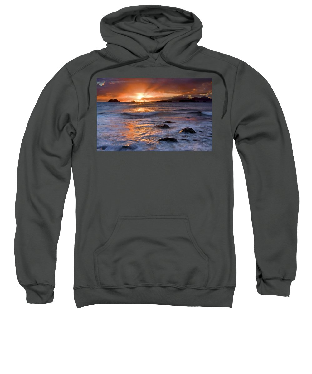 Alaska Sweatshirt featuring the photograph Inspired Light by Mike Dawson