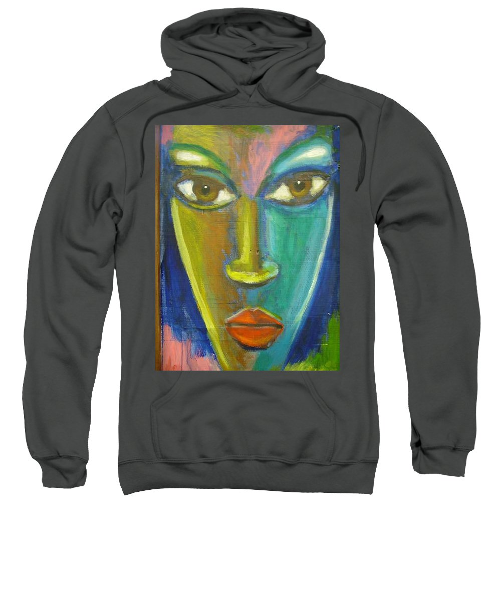 Painting Sweatshirt featuring the painting Intensity by Jan Gilmore