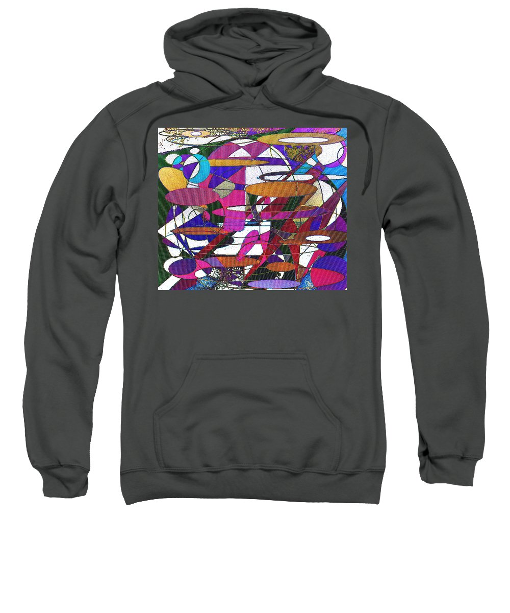 Abstract Sweatshirt featuring the digital art Intergalatic by Ian MacDonald