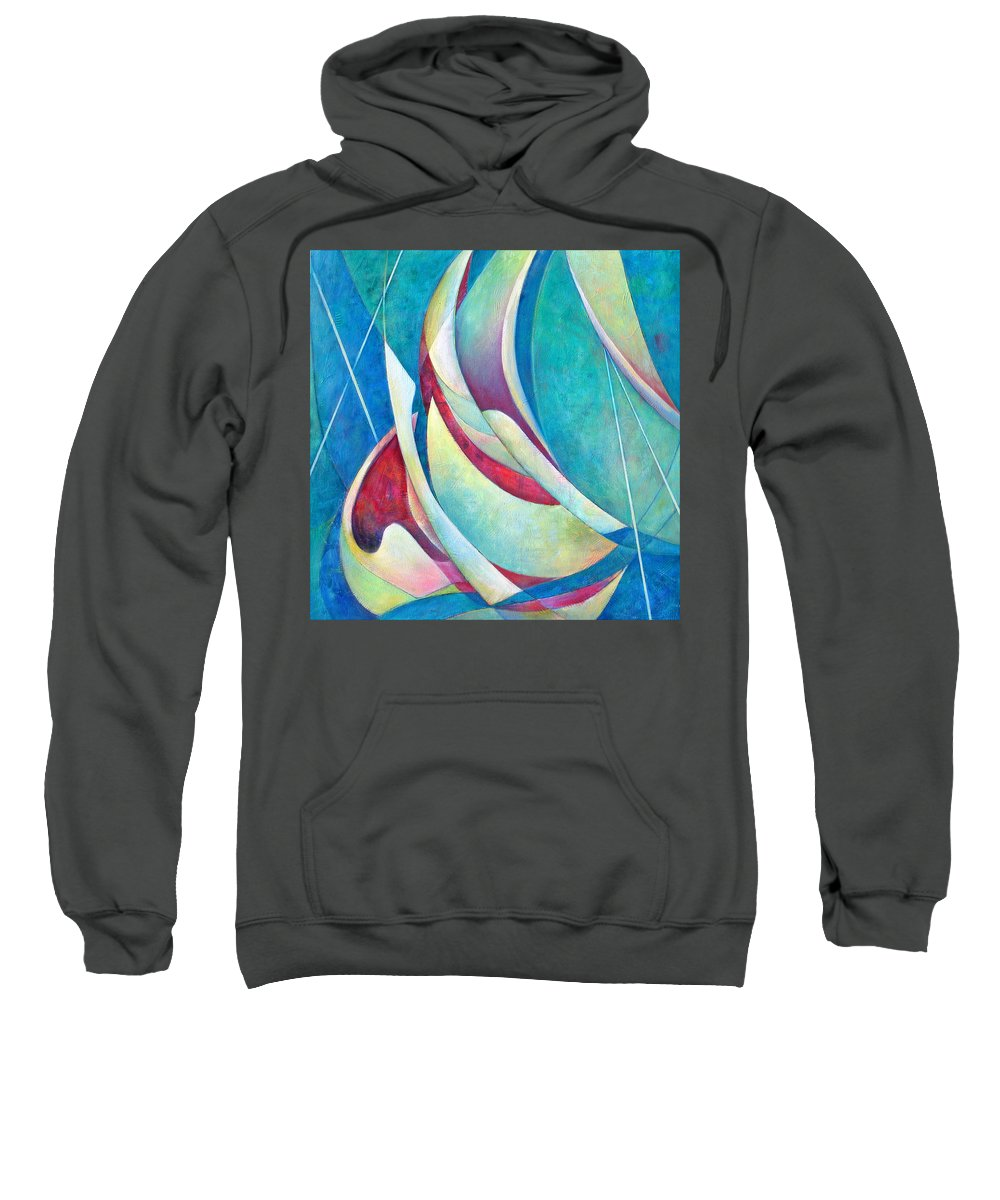 Sea Sweatshirt featuring the painting Into The Breeze by Susanne Clark
