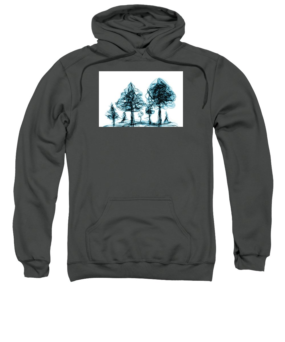 Nature Sweatshirt featuring the digital art Into The Mysterious Forest Of Imagination by Abstract Angel Artist Stephen K