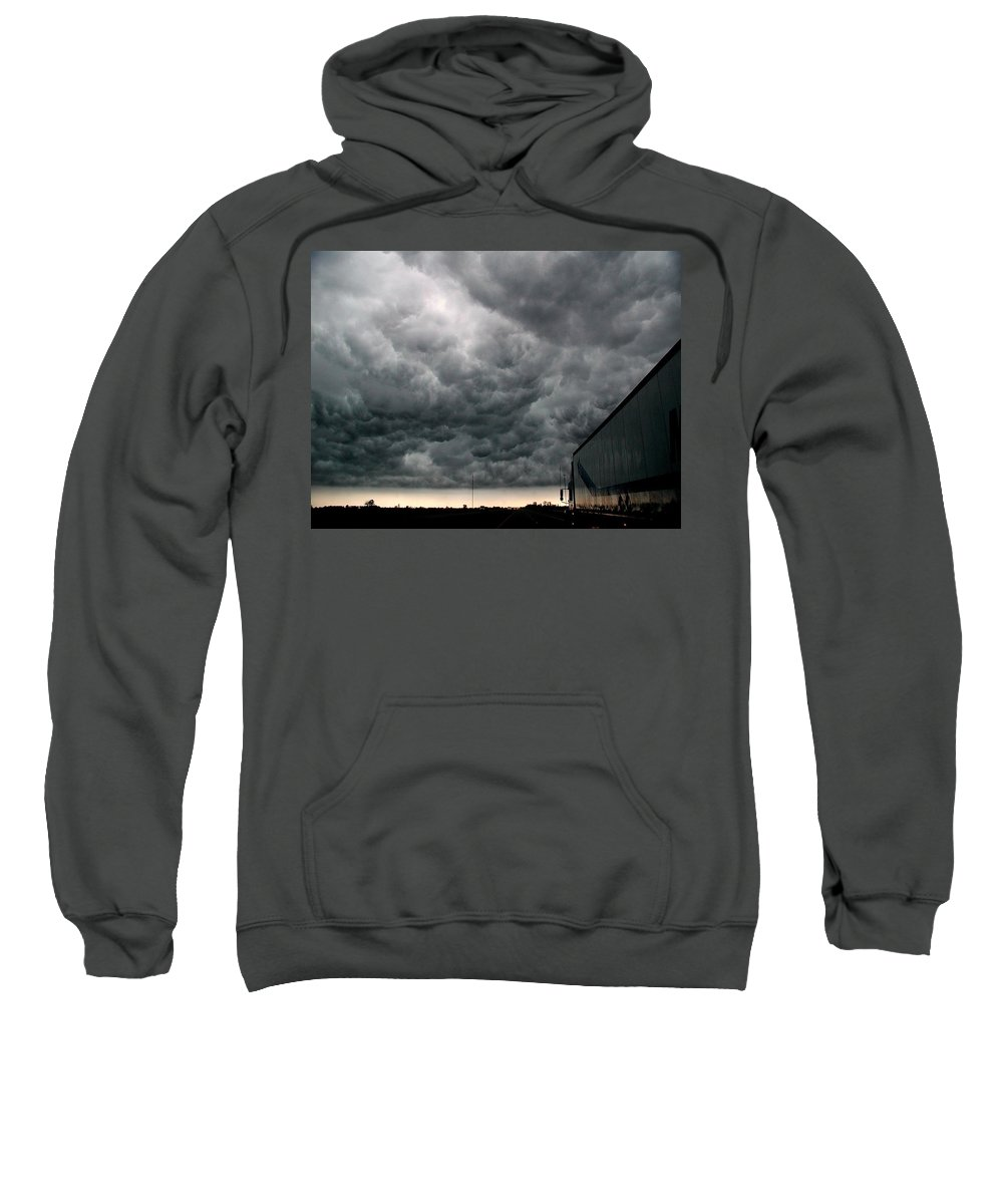 Storm Sweatshirt featuring the photograph Into The Storm by D'Arcy Evans