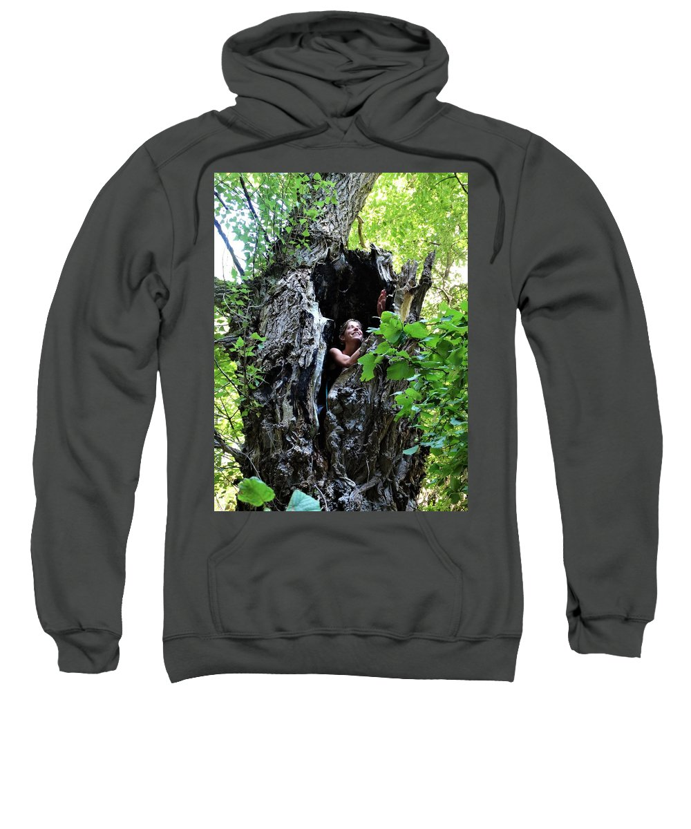 Portrait Sweatshirt featuring the photograph Into The Tree by Sergi Padilla