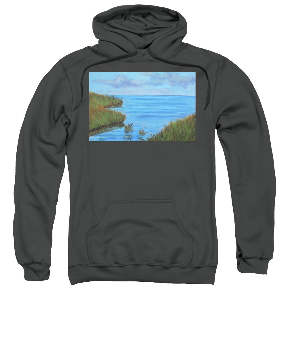 Coastal Sweatshirt featuring the painting Intracoastal Waterway by Justin Holdren
