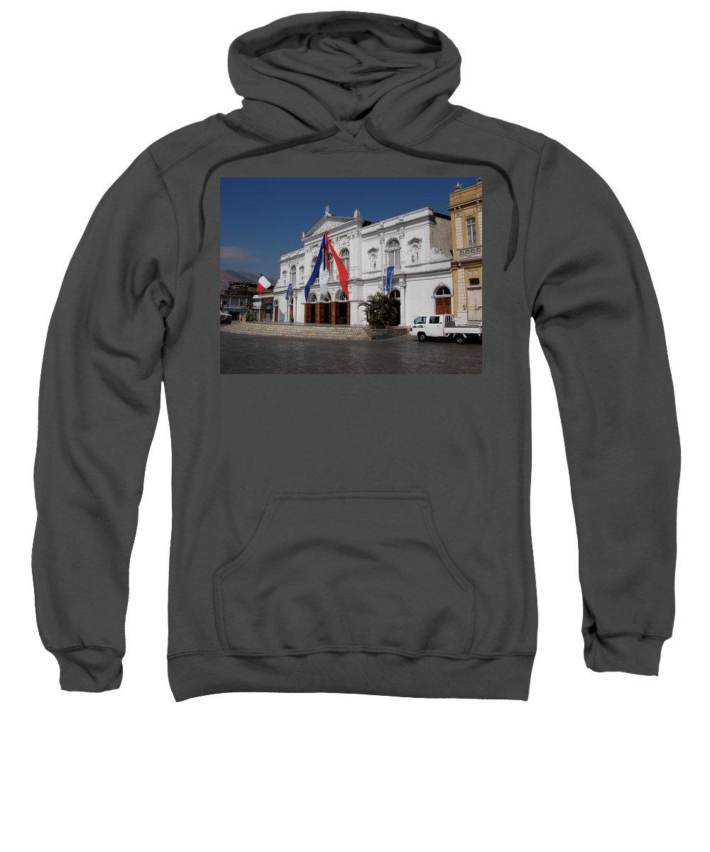 Iquique Sweatshirt featuring the photograph Iquique Chile Courtyard by Brett Winn
