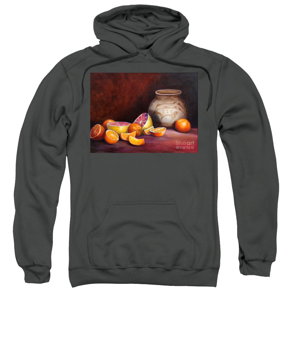 Still Life Paintings Sweatshirt featuring the painting Iranian Still Life by Portraits By NC