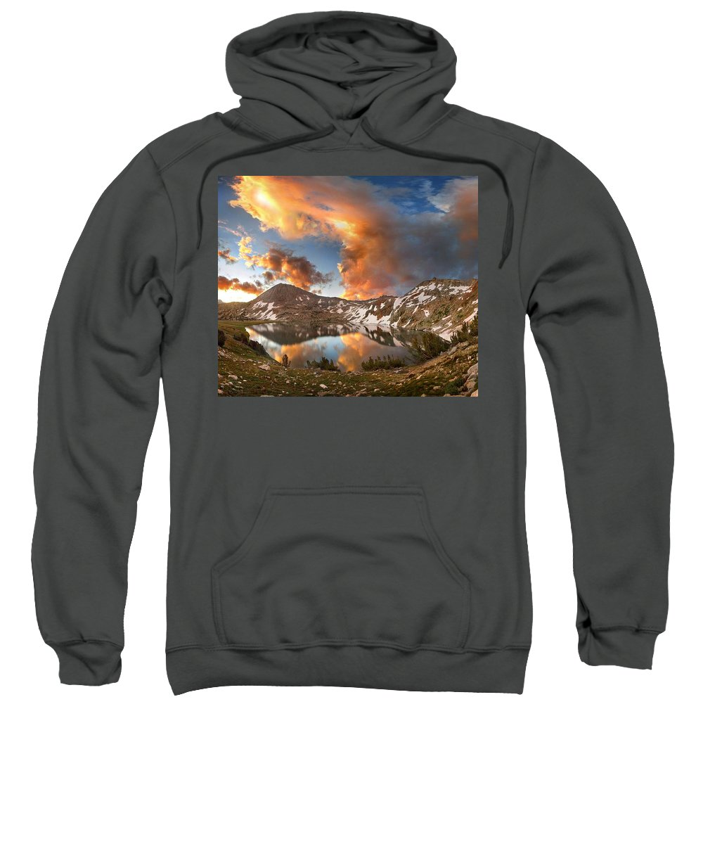 Sierra Sweatshirt featuring the photograph Ireland Lake Sunrise - Yosemite by Bruce Lemons