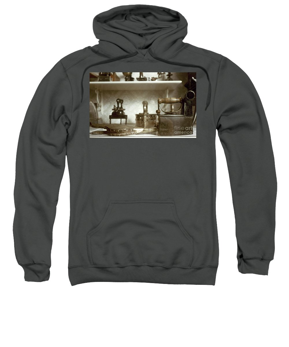 -domestic- Sweatshirt featuring the photograph Iron, 19th Century by Granger