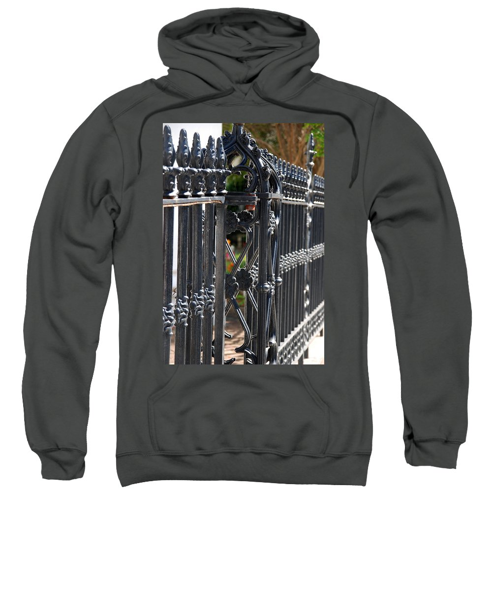 Iron Fence Sweatshirt featuring the photograph Iron Fence by Susanne Van Hulst