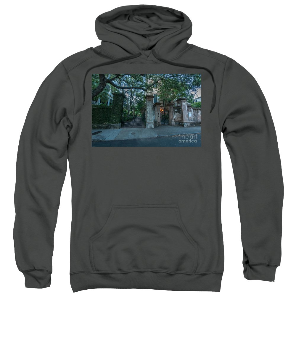 Beyond The Gate Sweatshirt featuring the photograph Iron Fire Entrance by Dale Powell