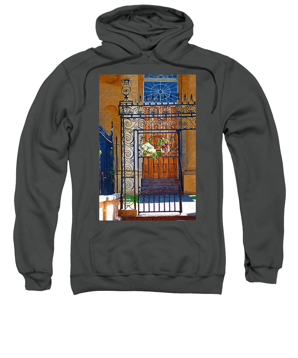 Church Sweatshirt featuring the photograph Iron Gate by Donna Bentley