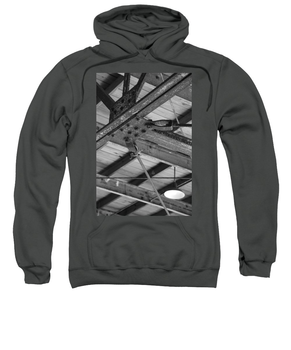 Black And White Sweatshirt featuring the photograph Iron Roof by Rob Hans