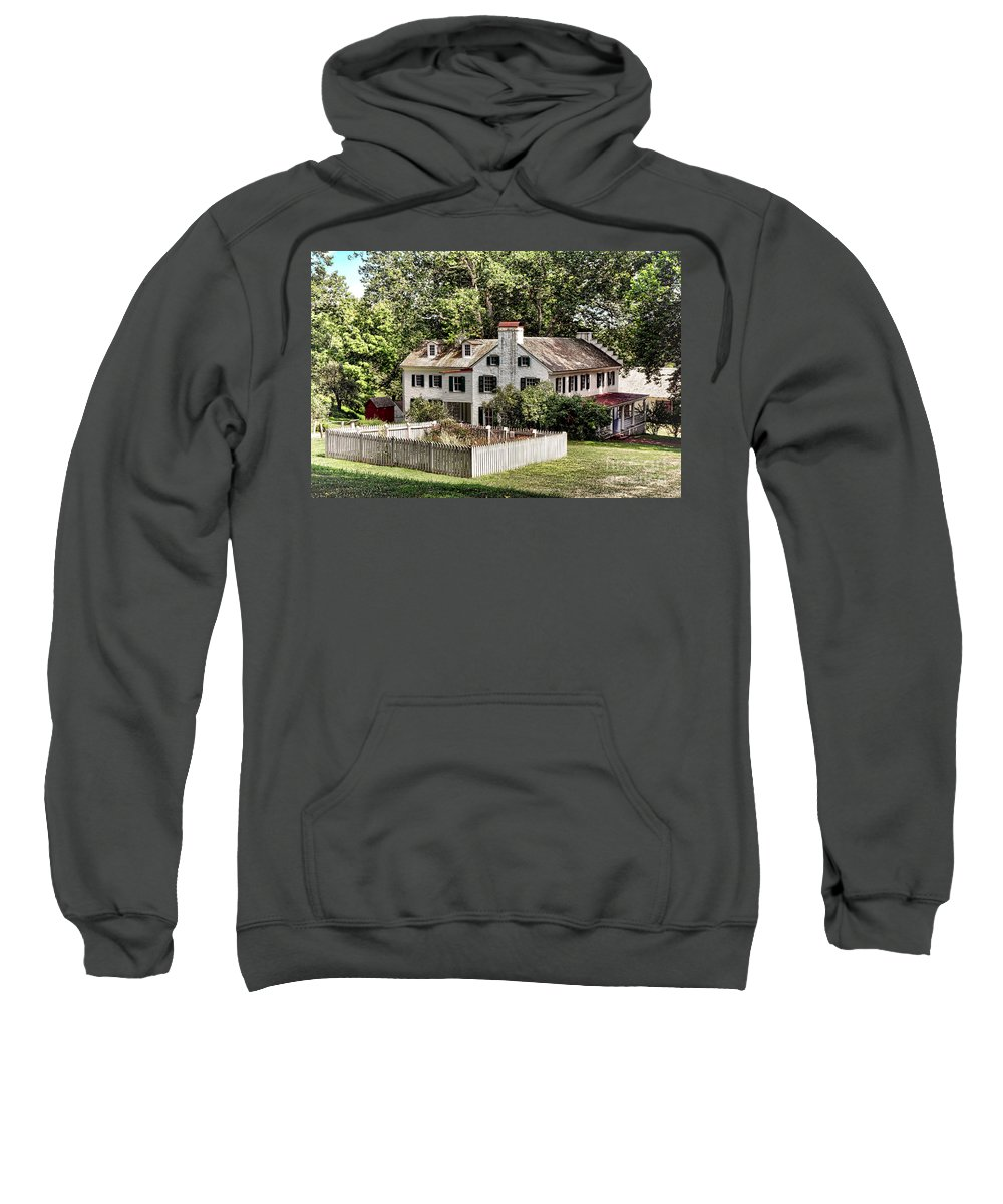 Hopewell Sweatshirt featuring the photograph Ironmaster Mansion At Hopewell Furnace by Olivier Le Queinec