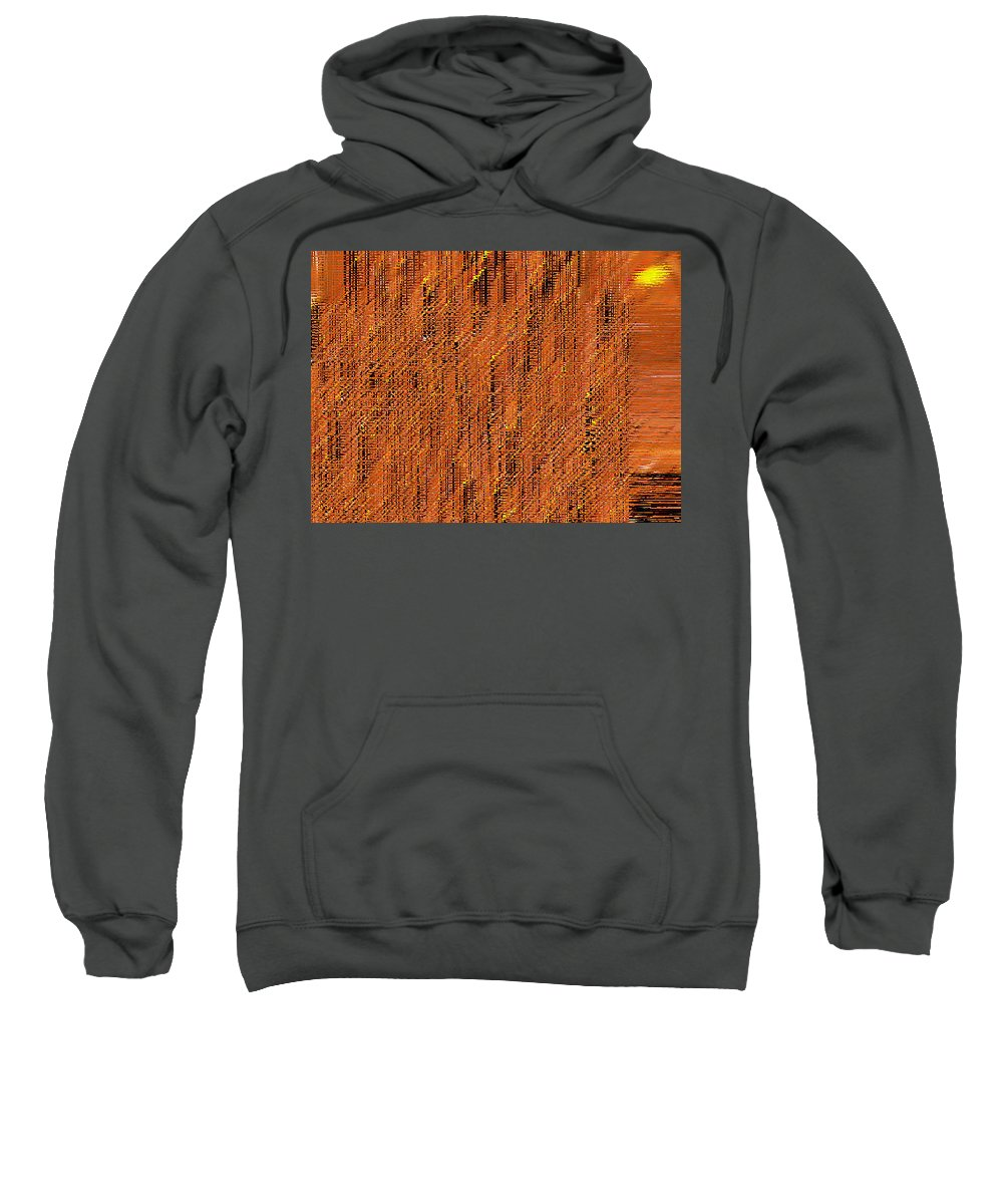 Abstract Sweatshirt featuring the digital art Island Abstract by Lenore Senior