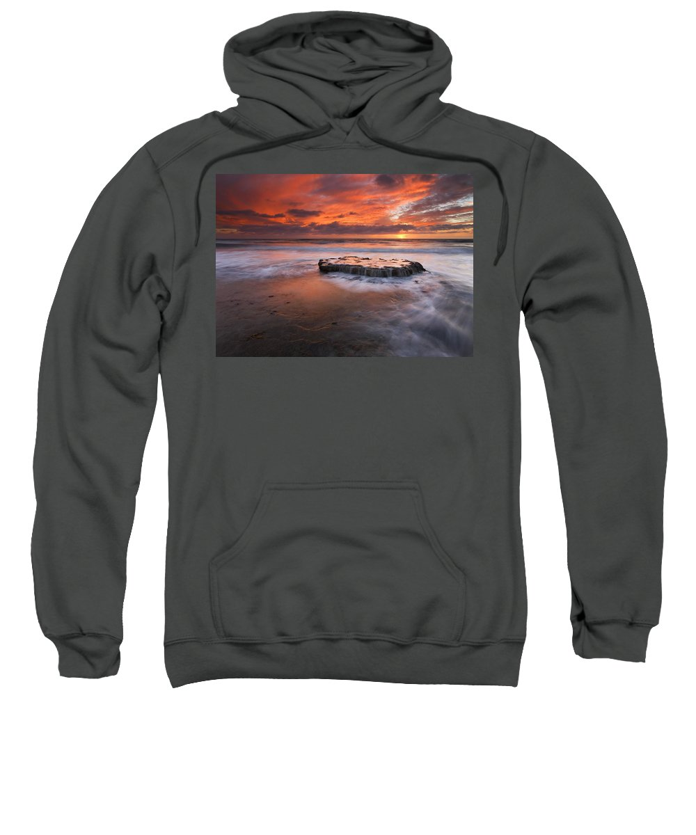 Island Sweatshirt featuring the photograph Island In The Storm by Mike Dawson