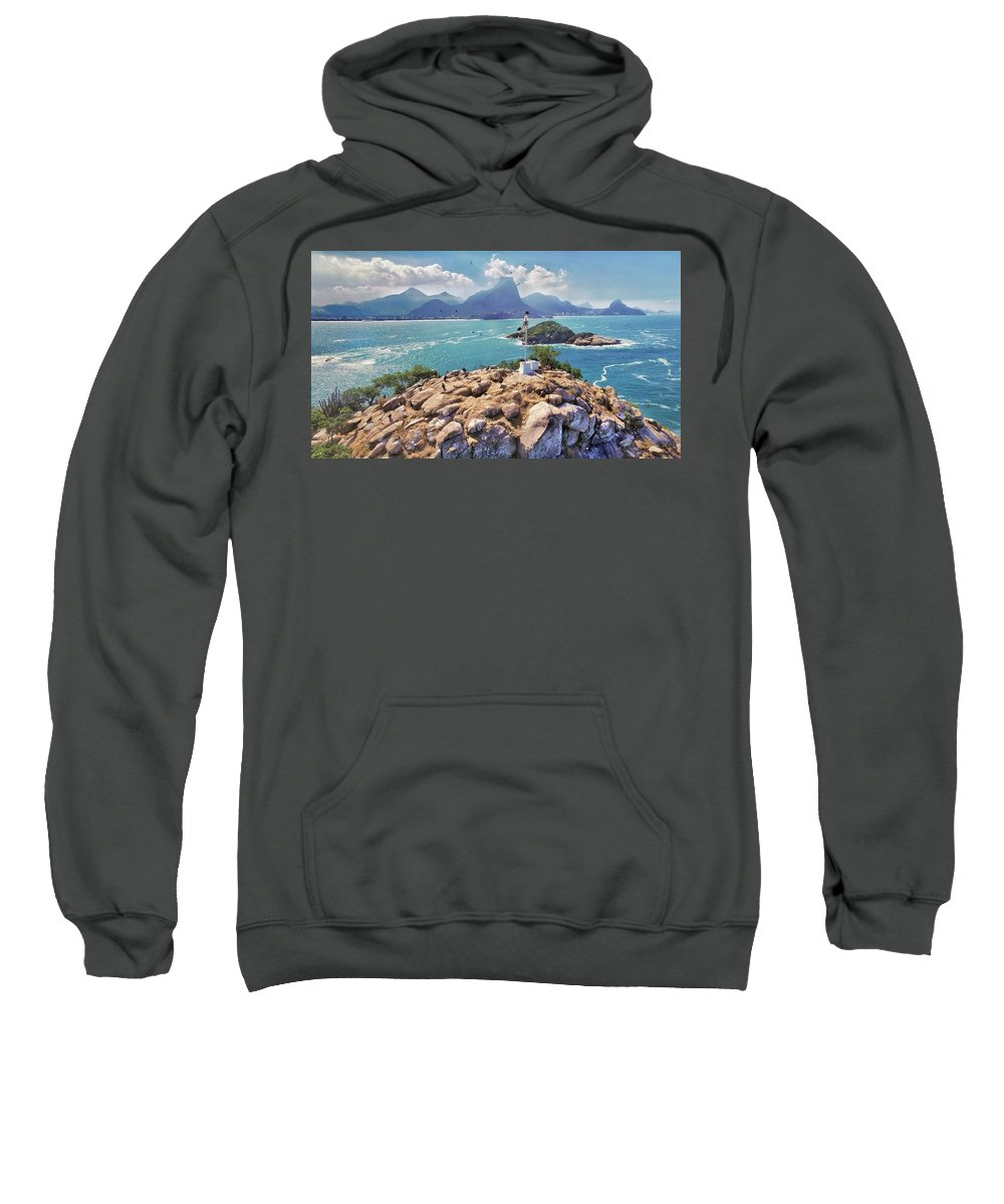 Islands Sweatshirt featuring the photograph Island Lighthouse by Victor Aune